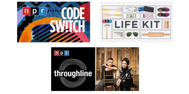 Code Switch, Life Kit, Throughline logos